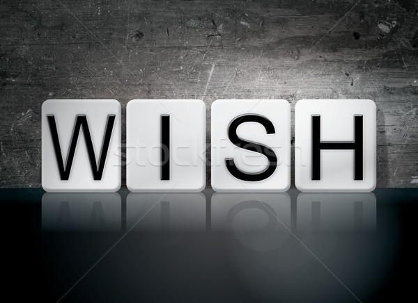 Wish Tiled Letters Concept and Theme Stock photo © enterlinedesign