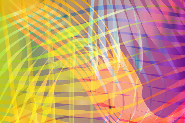 Colorful Blended Abstract Waves Background Illustration Stock photo © enterlinedesign