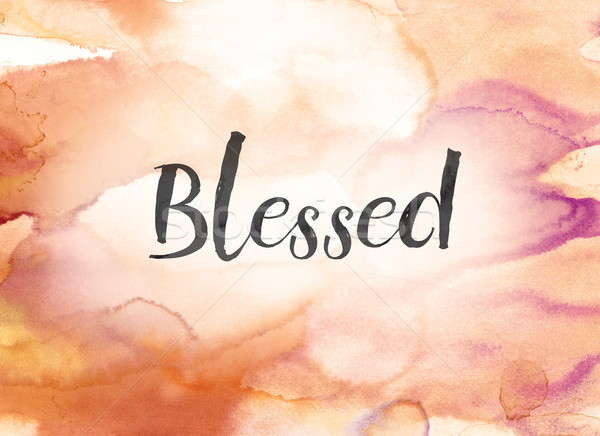Blessed Concept Watercolor and Ink Painting Stock photo © enterlinedesign