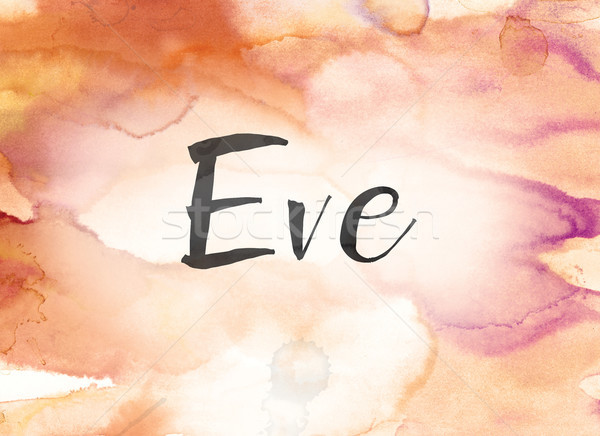 Eve Concept Watercolor and Ink Painting Stock photo © enterlinedesign