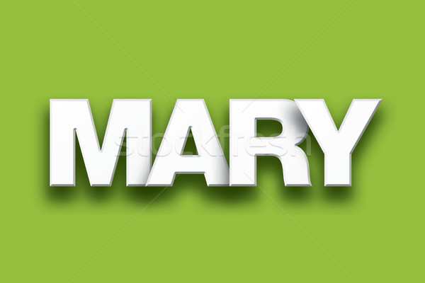 Mary Theme Word Art on Colorful Background Stock photo © enterlinedesign
