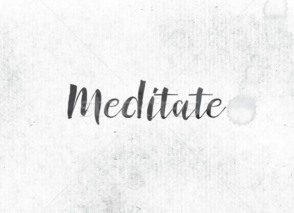 Meditate Concept Painted Ink Word and Theme Stock photo © enterlinedesign