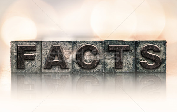 Facts Concept Vintage Letterpress Type Stock photo © enterlinedesign