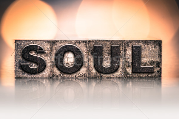 Soul Concept Vintage Letterpress Type Stock photo © enterlinedesign
