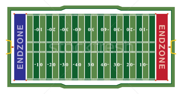 American Football Field Illustration Stock photo © enterlinedesign