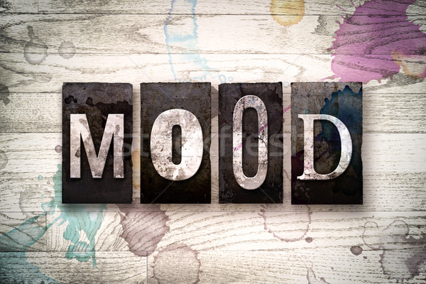 Mood Concept Metal Letterpress Type Stock photo © enterlinedesign