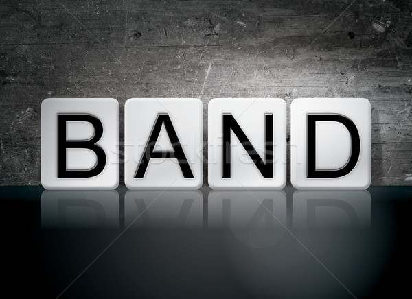 Band Tiled Letters Concept and Theme Stock photo © enterlinedesign