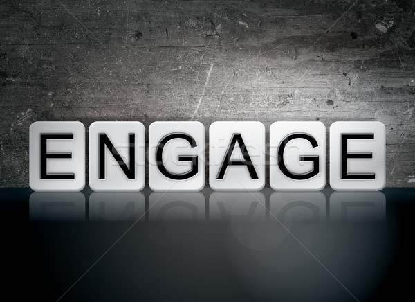 Engage Tiled Letters Concept and Theme Stock photo © enterlinedesign