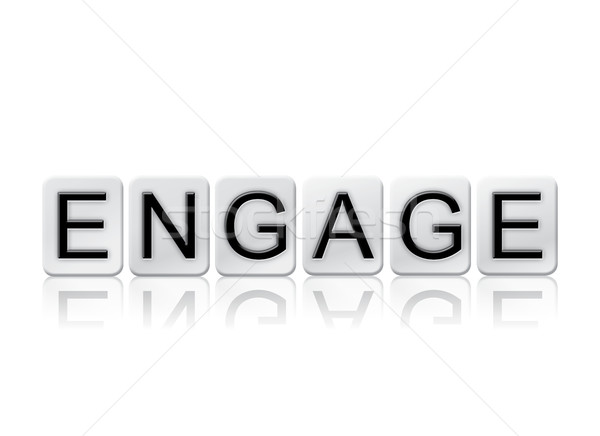 Engage Isolated Tiled Letters Concept and Theme Stock photo © enterlinedesign