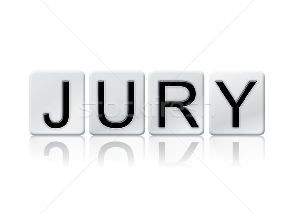 Jury Isolated Tiled Letters Concept and Theme Stock photo © enterlinedesign