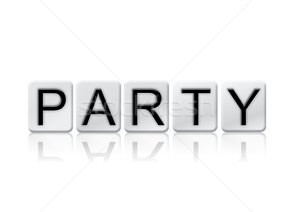 Party Isolated Tiled Letters Concept and Theme Stock photo © enterlinedesign