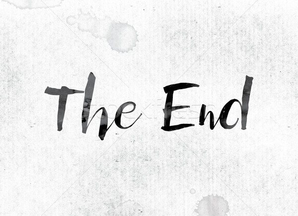 The End Concept Painted in Ink Stock photo © enterlinedesign