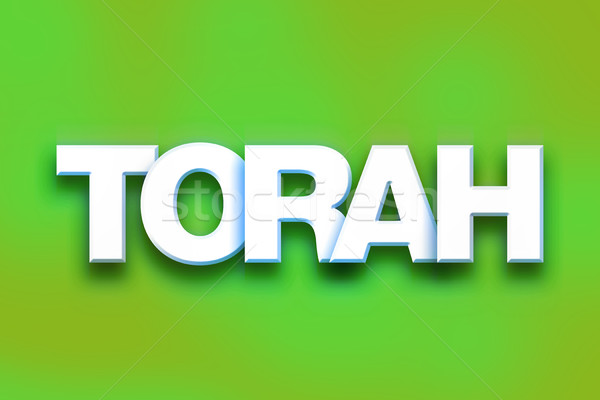 Torah Concept Colorful Word Art Stock photo © enterlinedesign