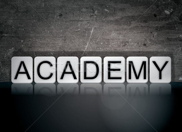 Academy Concept Tiled Word Stock photo © enterlinedesign