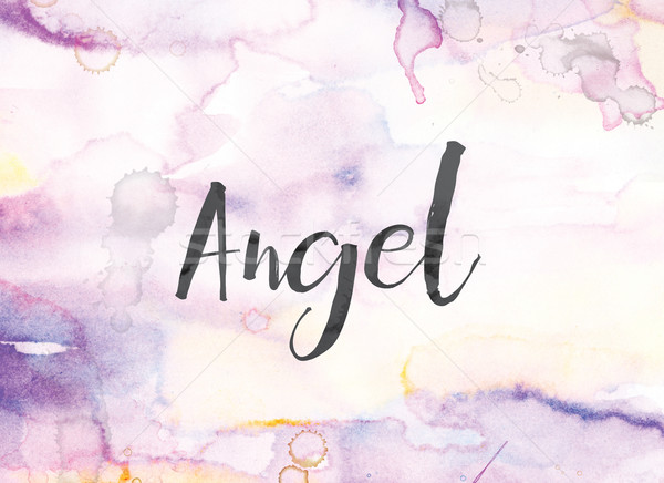 Angel Concept Watercolor and Ink Painting Stock photo © enterlinedesign