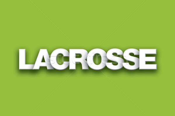 Lacrosse Theme Word Art on Colorful Background Stock photo © enterlinedesign