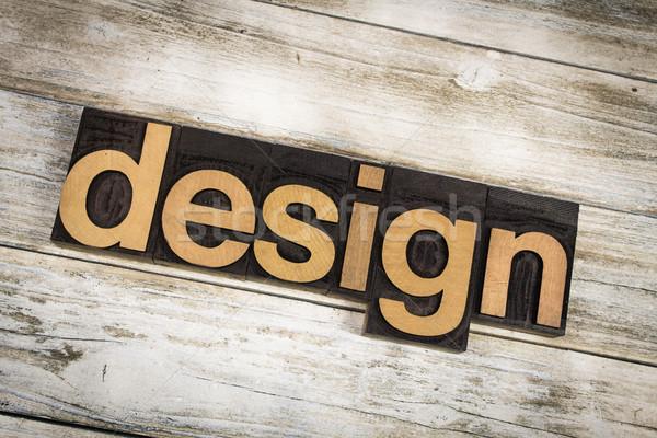 Projeto palavra escrito tipo Foto stock © enterlinedesign