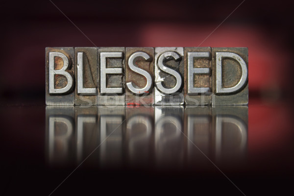Blessed Letterpress Stock photo © enterlinedesign