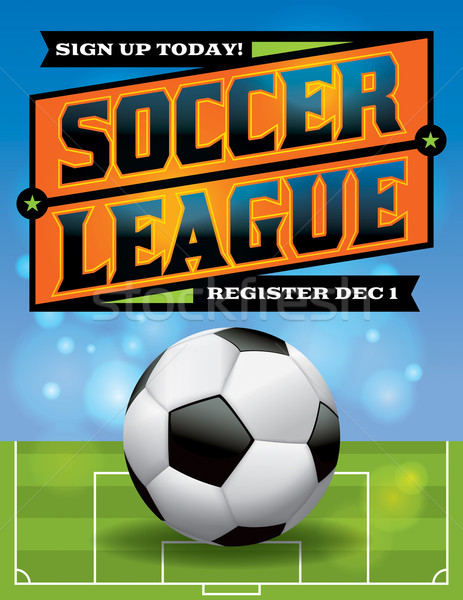 Stock photo: Soccer League Flyer Illustration