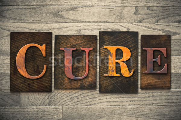 Stock photo: Cure Concept Wooden Letterpress Type