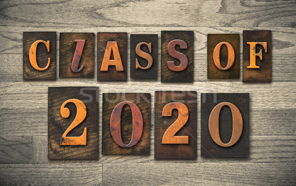 Class of 2020 Wooden Letterpress Type Concept Stock photo © enterlinedesign