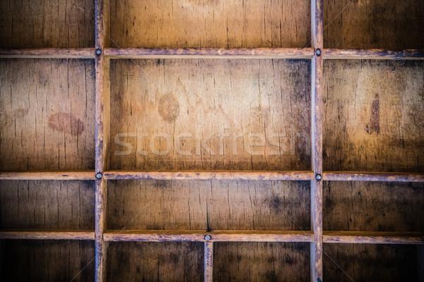 Vintage legno cassetto legno idea Foto d'archivio © enterlinedesign