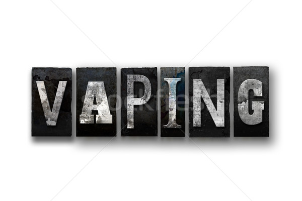 Vaping Concept Isolated Letterpress Type Stock photo © enterlinedesign