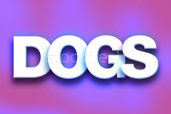 Dogs Concept Colorful Word Art Stock photo © enterlinedesign