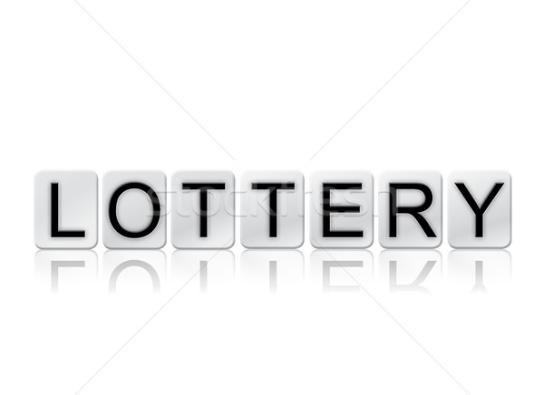 Lottery Isolated Tiled Letters Concept and Theme Stock photo © enterlinedesign