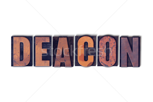 Deacon Concept Isolated Letterpress Word Stock photo © enterlinedesign