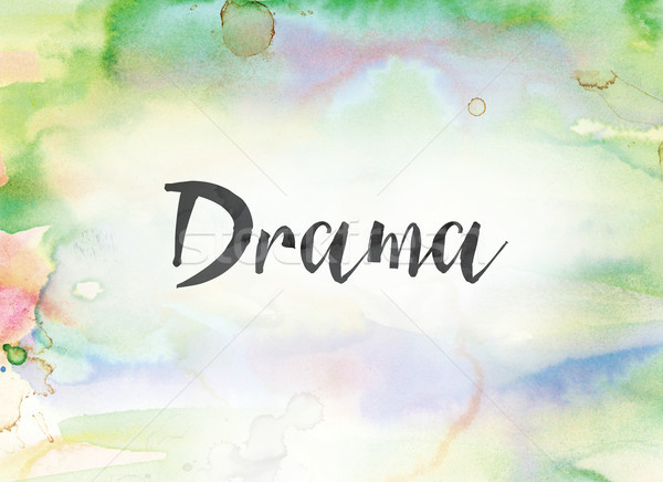 Drama Concept Watercolor and Ink Painting Stock photo © enterlinedesign