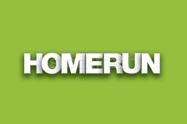 Homerun Theme Word Art on Colorful Background Stock photo © enterlinedesign