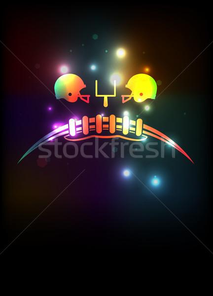 Amerykański piłka nożna szablon ilustracja zestaw kolorowy Zdjęcia stock © enterlinedesign