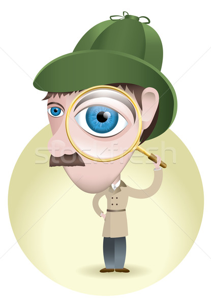 Detective Looking for Clues Stock photo © enterlinedesign