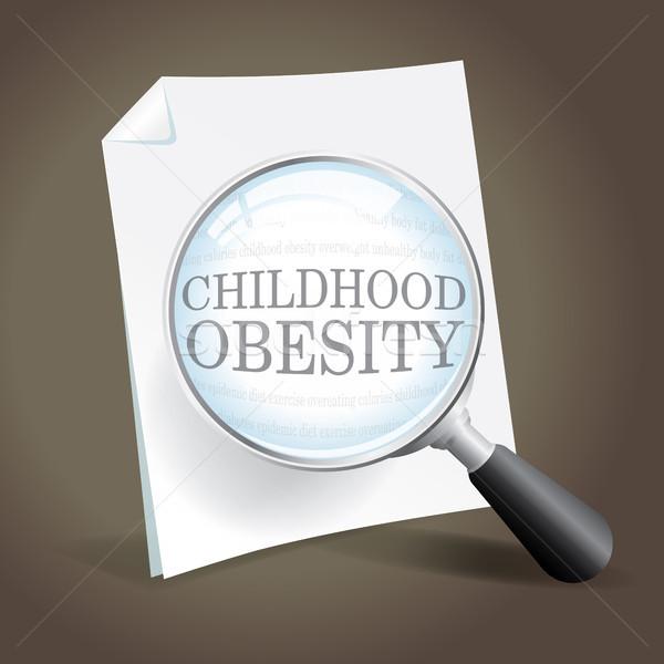 Kijken jeugd zwaarlijvigheid epidemie kind Stockfoto © enterlinedesign