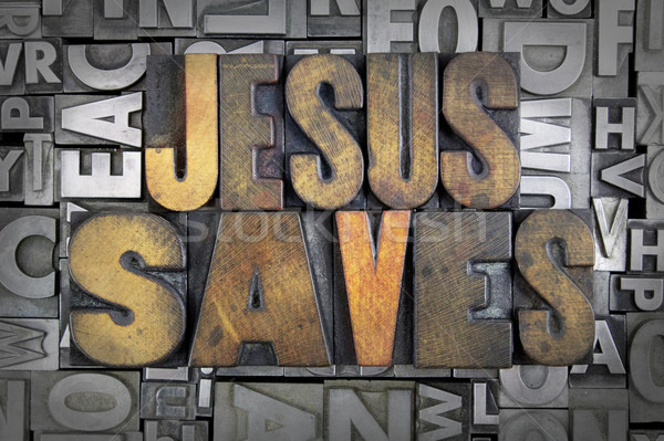 Jesus Saves Stock photo © enterlinedesign