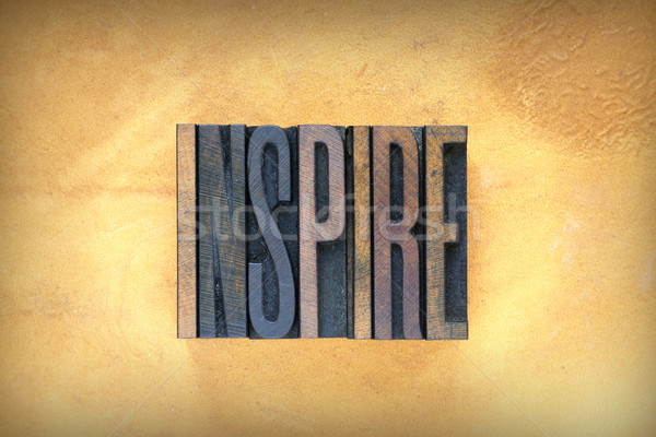 Inspire Letterpress Stock photo © enterlinedesign