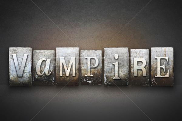 Vampiro palavra escrito vintage tipo Foto stock © enterlinedesign