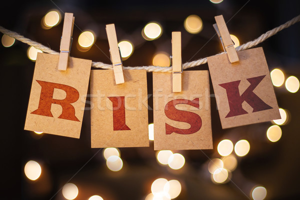 Risk Concept Clipped Cards and Lights Stock photo © enterlinedesign