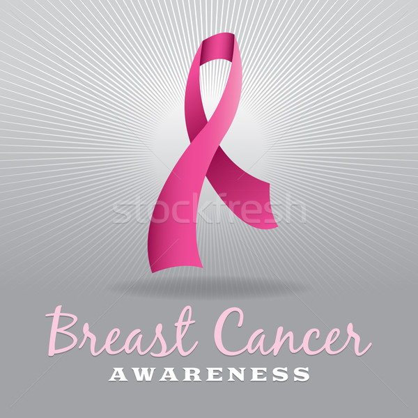 Breast Cancer Awareness Ribbon and Background Stock photo © enterlinedesign