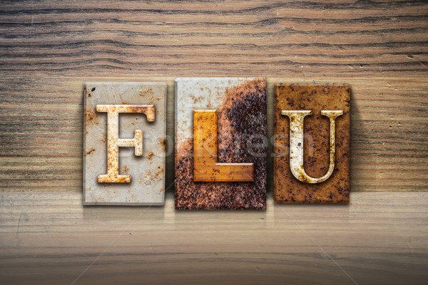 Flu Concept Letterpress Theme Stock photo © enterlinedesign