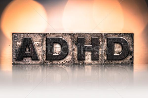 ADHD Concept Vintage Letterpress Type Stock photo © enterlinedesign