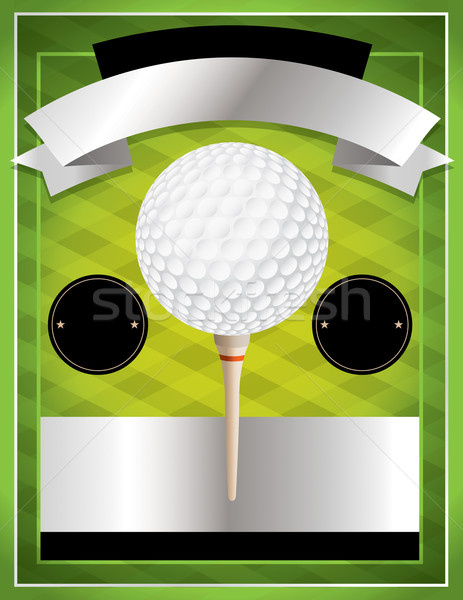Vector Golf Tournament Flyer Illustration Stock photo © enterlinedesign