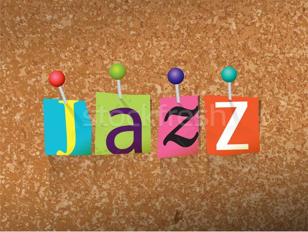 Jazz lettres illustration mot écrit coupé Photo stock © enterlinedesign