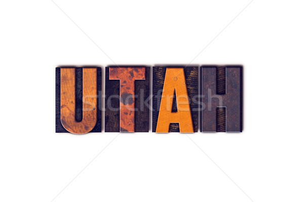 Utah Concept Isolated Letterpress Type Stock photo © enterlinedesign