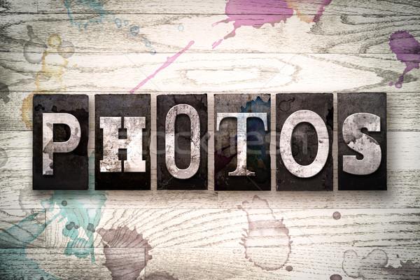 Photos Concept Metal Letterpress Type Stock photo © enterlinedesign