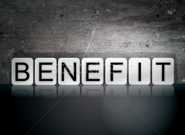 Benefit Tiled Letters Concept and Theme Stock photo © enterlinedesign