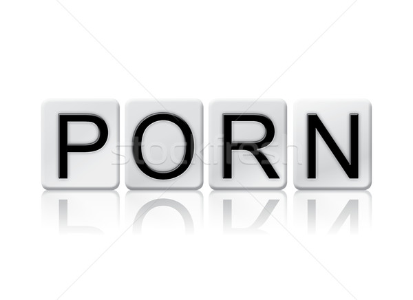 Porn Isolated Tiled Letters Concept and Theme Stock photo © enterlinedesign