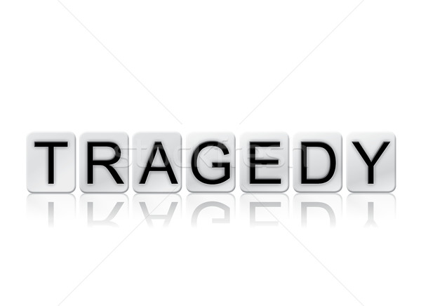 Tragedy Isolated Tiled Letters Concept and Theme Stock photo © enterlinedesign