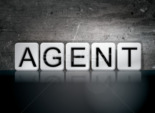 Agent Concept Tiled Word Stock photo © enterlinedesign